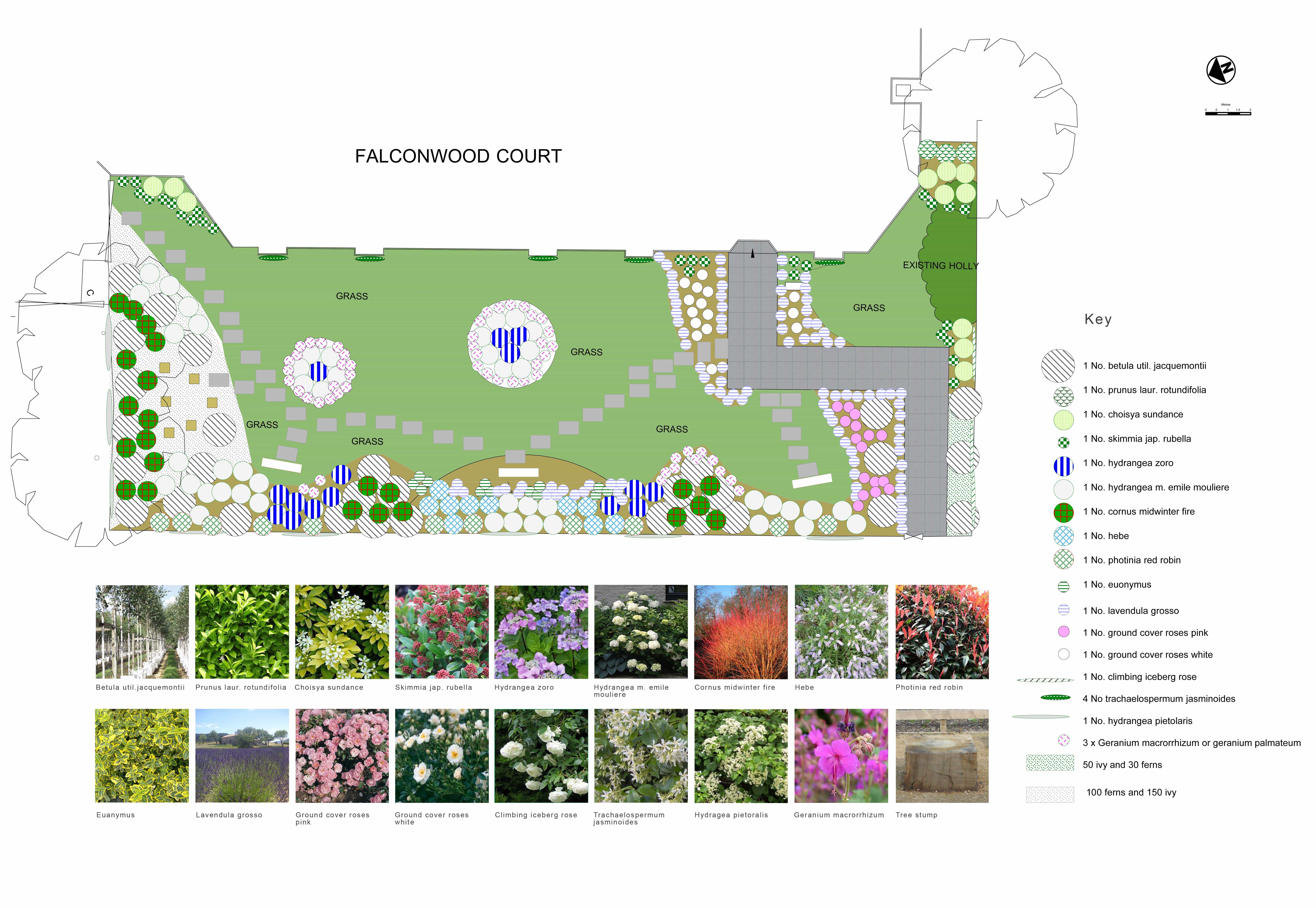 planting plan for appartments garden design london