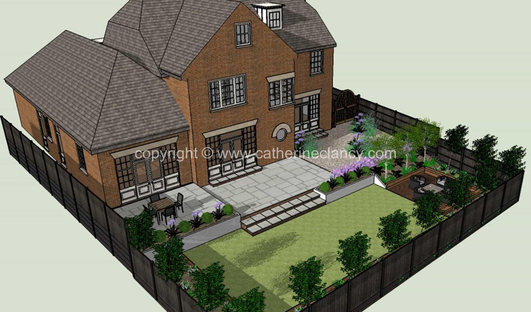 Hendon grand design garden 1 garden design london for Grand designs garden