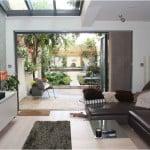contemporary courtyard garden