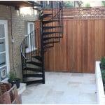 Chic courtyard garden slim shed