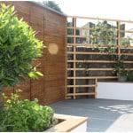 Contemporary herb garden