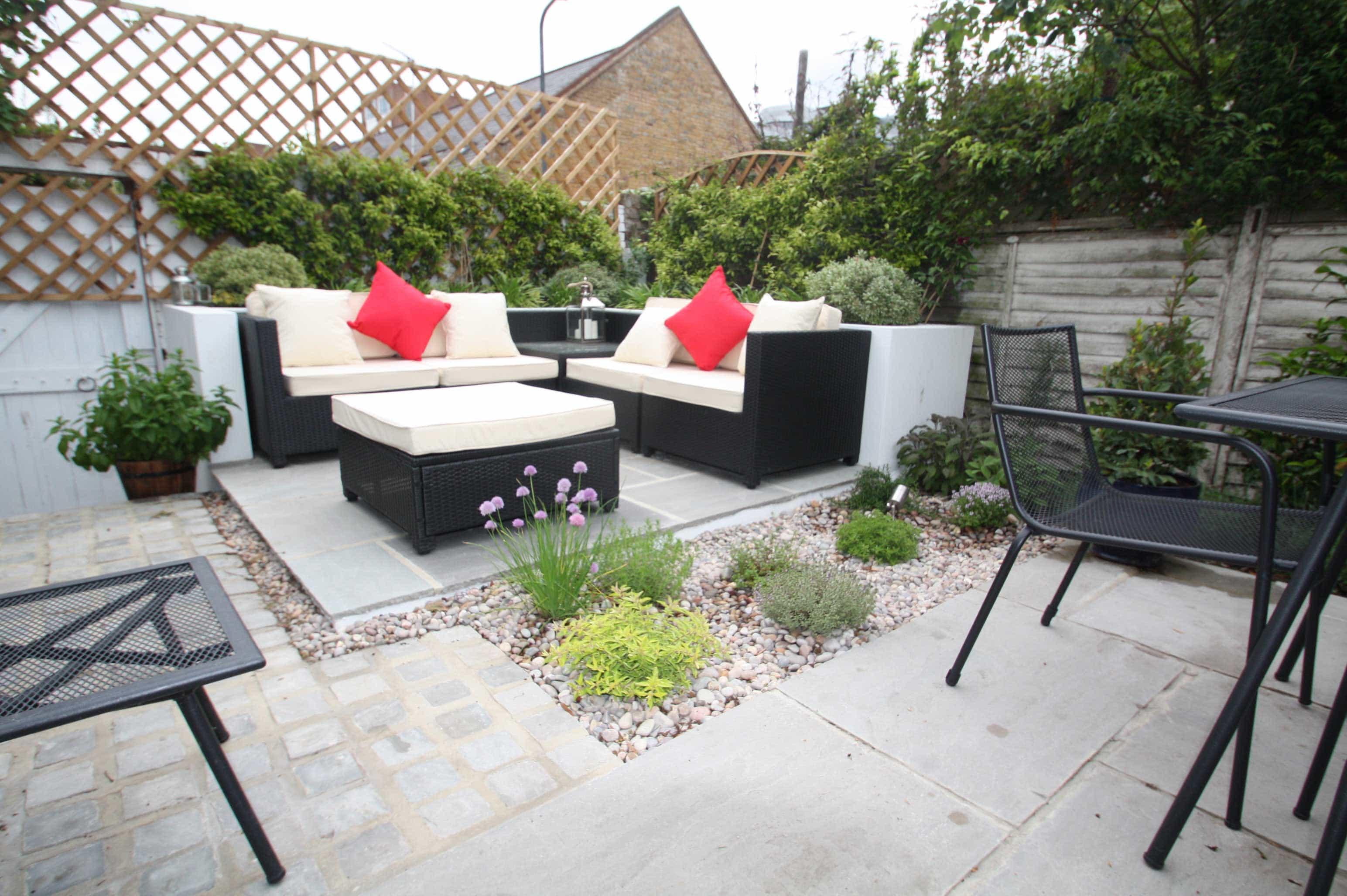 Low maintenance courtyard garden